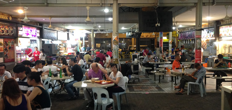 Lavender Food Square Hawker Center in Singapur